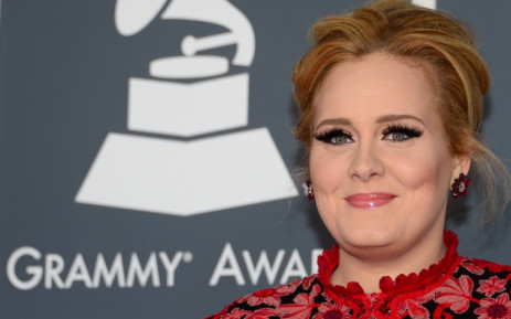 FILE: Singer Adele as she arrives on the red carpet for the 55th Grammy Awards in Los Angeles in February 2015. Picture: AFP.