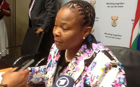 Mineral Resources Minister Susan Shabangu. Picture: Regan Thaw/EWN.