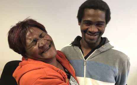 Jane Daniels was reunited with her son Denzil after six years on 28 June 2019.  The mentally challenged man vanished without a trace in 2019. Picture: Lauren Isaacs/EWN.