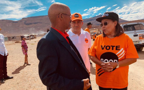 Good party leader Patricia de Lille (right) on the campaign trail in the Northern Cape. Picture: @PatriciaDeLille/Twitter