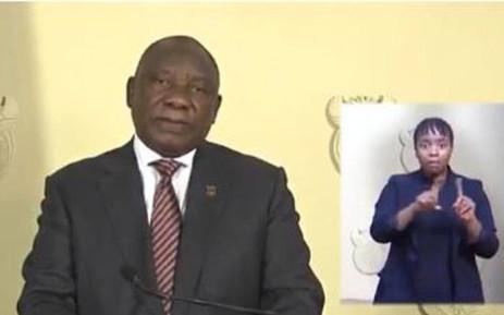 President Cyril Ramaphosa addresses the nation on COVID-19 on 9 April 2020.