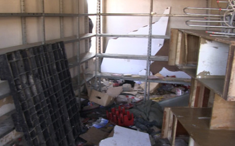 Looted Diepsloot shop. Picture: EWN