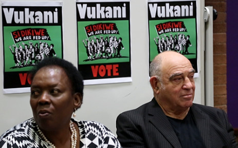 FILE: Former Cabinet Minister Ronnie Kasrils and Former Deputy Minister of Defence Nozizwe Madlala-Routledge during the launch of the 'Vote No' campaign in April 2014. Picture: EWN.