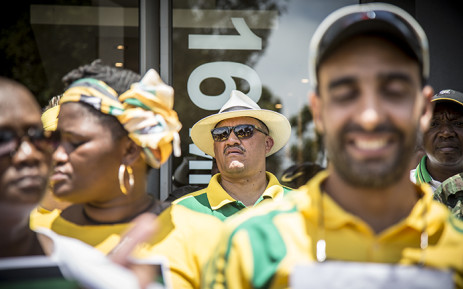 ANC Provincial Secretary Marius Fransman at the the ANC Youth League rally outside the DA headquarters on Mill Street. The ANC say the DA are running a racist government in the Western Cape. Picture: Thomas Holder/EWN