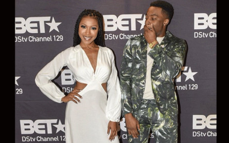 Actor Woody McClain (L) who plays Bobby Brown and Actress Gabrielle Dennis (R) who plays Whitney Houston in 'The Bobby Brown Story'. Picture: @BET_Africa/Twitter.