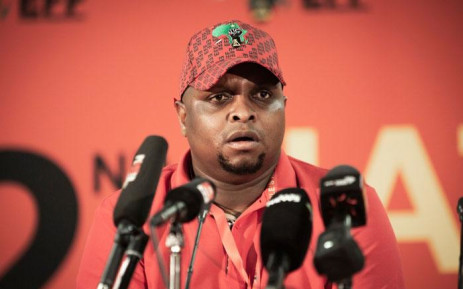 The EFF's Floyd Shivambu briefs the media on 13 December 2019 on the party's state of readiness for its elective conference. Picture: Sethembiso Zulu/EWN