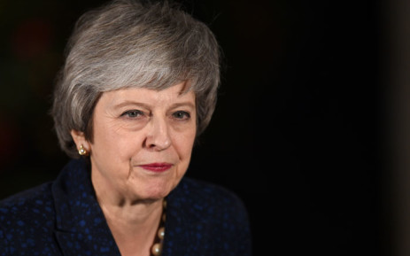 Britain's Prime Minister Theresa May makes a statement outside 10 Downing Street in central London after winning a confidence vote on 12 December 2018. Picture: AFP