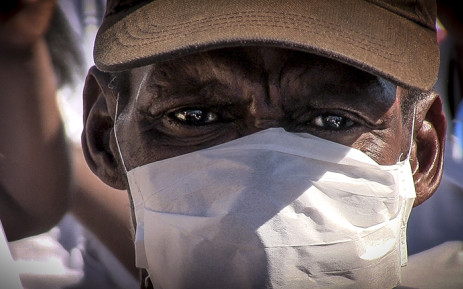 FILE: A man, wearing a mask, attends 2015 World TB Day march in Cape Town. Picture: Thomas Holder/EWN.