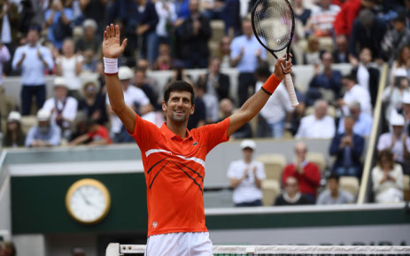 Novak Djokovic celebrates a win at the French Open on 30 May 2019. Picture: @rolandgarros/Twitter