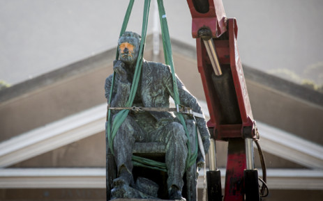 FILE: The Cecil John Rhodes statue was damaged when it was vandalised on Friday at the Rhodes Memorial. Picture: EWN.