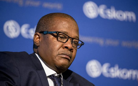 Brian Molefe looks on after tearing up following a discussion of former Public Protector Thuli Madonsela's 'State of Capture' report findings during a press conference in Johannesburg on 3 November 2016. Picture: Reinart Toerien/EWN.