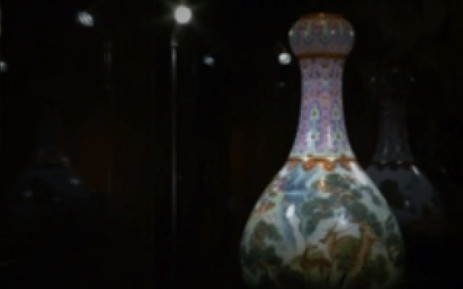 A screengrab shows the Chinese vase sold for $19 million. Picture: reuters.com