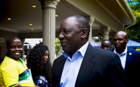 President Cyril Ramaphosa arriving for the ANC NEC special meeting. Picture: Kayleen Morgan/EWN