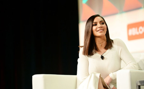 Kim Kardashian West speaks during the #BlogHer16 Experts Among Us conference at JW Marriott Los Angeles. Picture: Getty Images/AFP.