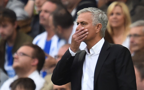 Manchester United manager Jose Mourinho gestures from the touchline during an English Premier League football match. Picture: AFP