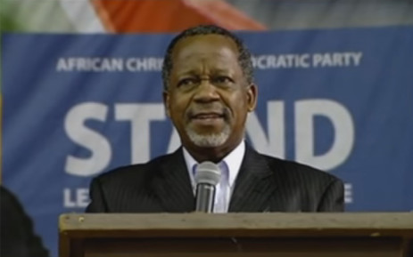 ACDP leader Reverend Kenneth Meshoe. Picture: YouTube screengrab.