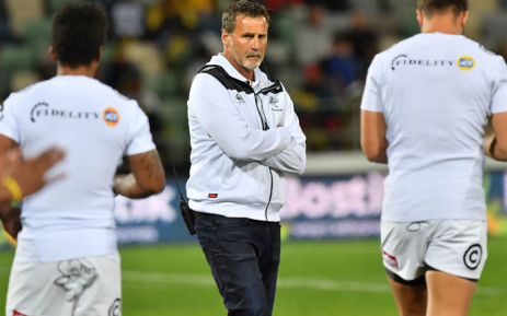 Sharks coach Robert du Preez (center). Picture: AFP