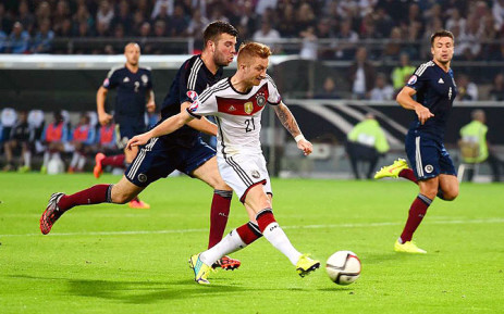 FILE: Germany's Marco Reus during the Uefa Euro 2016 qualifying match against Scotland. Picture: Official Germany Football Twitter account.