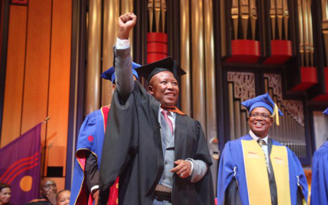 EFF leader Julius Malema at his graduation ceremony on 30 March 2016. Picture: Christa Eybers/EWN.
