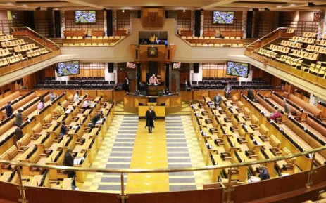 A National Assembly hybrid plenary sitting in line with COVID-19 regulations on 27 August 2020. Picture: @ParliamentofRSA/Twitter