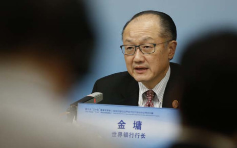FILE: World Bank President Jim Yong Kim attends a news briefing after the Third Round Table Dialogue in Beijing on 6 November 2018. Picture: AFP
