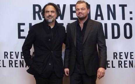 'The Revenant' Director Alejandro Inarritu and the film's star actor Leonardo DiCaprio. Picture: @aginarritu.