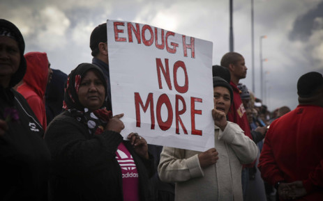 Bonteheuwel residents during one of many anti-crime marches which took place across Cape Town on 25 September 2018. Picture: Cindy Archillies/EWN