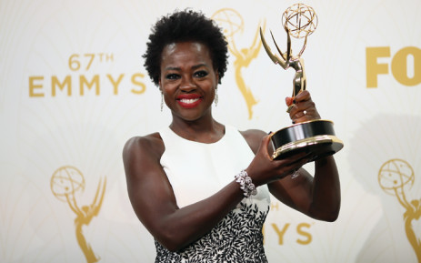 Actress Viola Davis, winner of the award for Outstanding Lead Actress in a Drama Series for 'How to Get Away With Murder', poses in the press room at the 67th Annual Primetime Emmy Awards at Microsoft Theater on September 20, 2015 in Los Angeles, California. Picture: AFP.