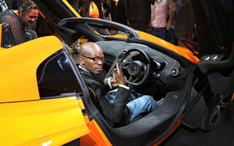 EWN Motoring Journalist Jacob Moshokoa talks us through some of the selling points of the new McLaren 650S, which was launched yesterday evening. Picture: Sebabatso Mosamo/EWN