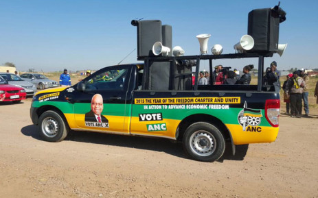FILE: ANC vehicle at the party's door-to-door election campaign. Picture: Twitter: @GautengAN.