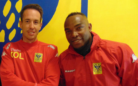 Benni McCarthy was unveiled alongside the Belgium clubs new head coach Chris OLoughlin on 8 September 2015. Picture: @bennimccarthy17