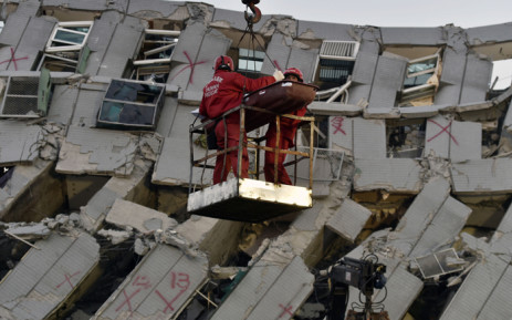 FILE: Rescue work has focused on the wreckage of the 17-storey building, where more than 100 people are listed as missing and are suspected to be buried deep under the rubble. Picture: AFP.