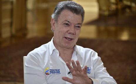 FILE: Colombia's President Juan Manuel Santos. Picture: AFP.
