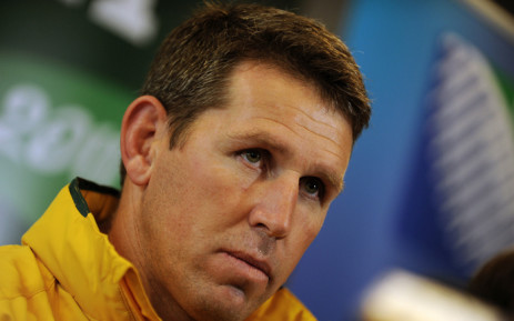 FILE: Braam van Straaten answers a question at a press conference in Wellington during the 2011 Rugby World Cup on 6 October 2011. Picture: AFP.