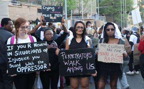 FILE: Women stand together against gender-based violence. Picture: Twitter @702.