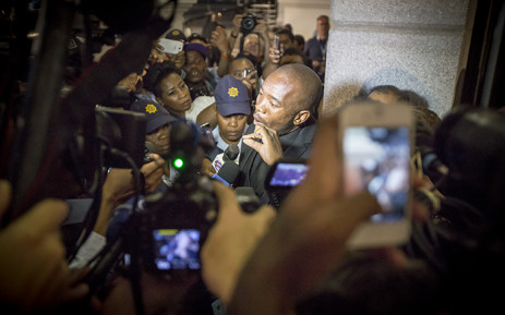 After walking out of Parliament, DA Parliamentary Leader Mmusi Maimane issued statements to the media condemning the speaker's actions as unconstitutional. Picture: Thomas Holder/EWN