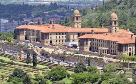 Overhead view of Union Buildings on 12 December 2013. GCIS