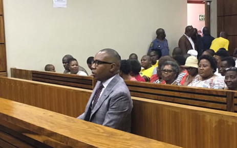 Former Higher Education Deputy Minister Mduduzi Manana at the Randburg magistrates court on 13 November 2017 for sentencing in his assault case. Picture: Hitekani Magwedze/EWN