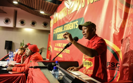 EFF leader Julius Malema addressed the party's third national assembly of the EFF's Student Command in the Free State. Picture: @EFFSouthAfrica
