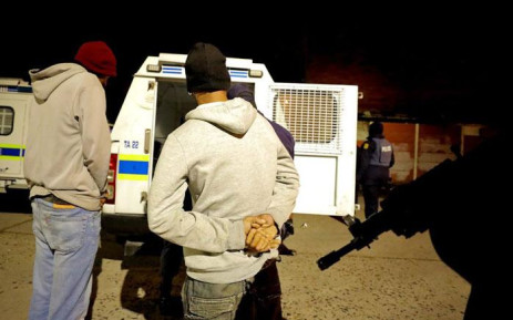 Police arrest suspects during an operation on the Cape Flats on 11 July 2019. Picture: @SAPoliceService/Twitter