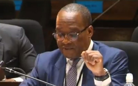A screengrab of executive head of listed investments Fidelis Madavo giving evidence at the PIC Inquiry on 22 January 2019.
