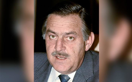 FILE: South African Foreign Affairs Minister Pik Botha in Pretoria on 26 October 1988. Picture: AFP