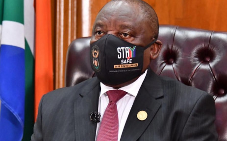 President Cyril Ramaphosa addressing the nation on 24 May 2020 on the government's response to the COVID-19 pandemic. Picture: @PresidencyZA/Twitter.