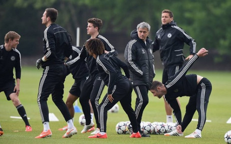 Chelsea players train ahead of their UEFA Champions League semi-final second leg clash against Atletico Madrid. Picture: Facebook.com