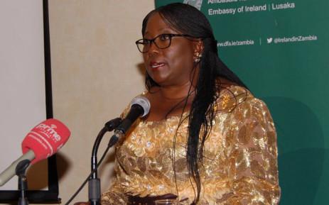 Former Zambian Community Development and Social Services minister Emerine Kabanshi. Picture: @IrelandinZambia/Twitter