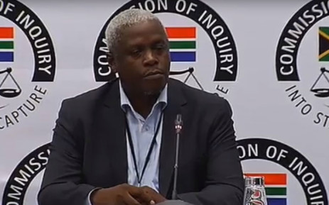 A screengrab of former Free State MEC Mxolisi Dukwana is giving evidence at the state capture inquiry on 5 April 2019.