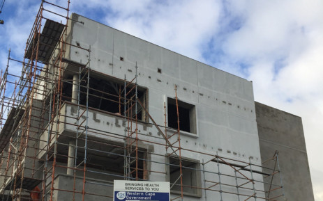 Construction is well underway at the new District Six community health facility. Picture: Petrus Botha/EWN