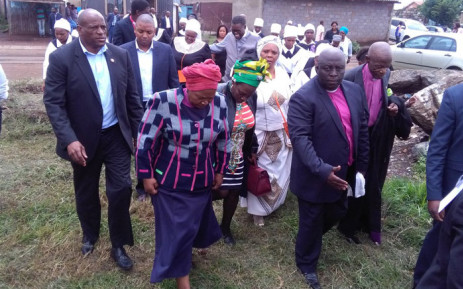Former AU Commission Chair Nkosazana Dlamini ZUMA arrives at the Bretheren Mission Church in Thokoza. Picture: Victor Magwedze/EWN