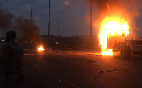 Police have fired rubber bullets at a group of protesters in the south of Johannesburg where a protest is underway around Freedom Park, Lenasia and Eldorado Park. Picture: EWN