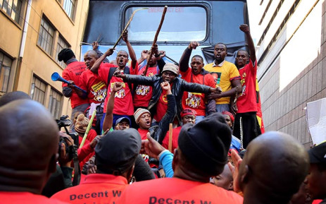 Numsa March for better wages. Picture: Sebabatso Mosamo/EWN